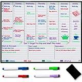 Lavagna magnetica settimanale per Frigorifero – Planner settimanale per i pasti – Calendario familiare – Organizzati con…