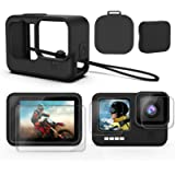 Deyard Accessories Kit Compatible with GoPro Hero 9, Upgraded Silicone Sleeve Protective Case + 6PCS Tempered Glass…