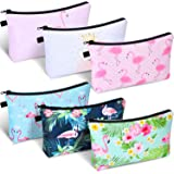 6 Pieces Makeup Bag Toiletry Pouch Waterproof Cosmetic Bag with Zipper Travel Packing Bag 8.7 x 5.3 Inch Small Cosmetic Bag A