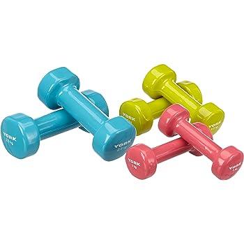 York Fitness - Juego de mancuernas de 10 kg (2 x 1 kg, 2