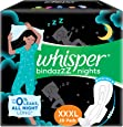 Whisper Ultra Night Sanitary Pads for Women, XXXL 20 Napkins
