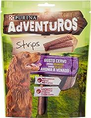 Adventuros Strips Snack Perro Aroma a Venado 90 g - 90 gr