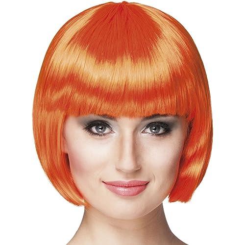 Boland 85893 - Parrucca Cabaret Caschetto, Arancione