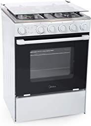 Midea 60 x 60 Gas Cooker With Full Safety - BME62057FFD, White
