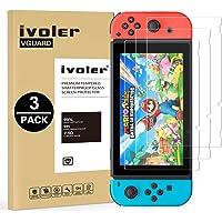 ivoler [3 Pack] Pellicola Vetro Temperato per Nintendo Switch [Garanzia a Vita], Pellicola Protettiva Protezione per Schermo per Nintendo Switch