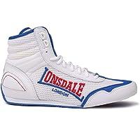 Lonsdale - Stivaletti da Boxe Contender da uomo, con lacci, traspiranti