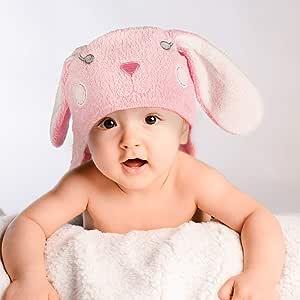 Dein Bio-KAPUZENTUCH aus 100/% Bio Baumwolle f/ür Babys Kapuzenbadetuch Kapuzenhandtuch f/ür Neugeborene ab 0 Monaten bis 5 Jahre.