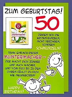 50 Geburtstag Karte Lustig.1 Geburtstagskarte 50 Na Und Lustige Geburtstagskarte Zum