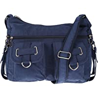 Christian Wippermann Damenhandtasche Schultertasche aus Canvas Blau