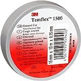 3M TGRA1525 Temflex 1500 vinyl elektrische isolatietape, 15 mm x 25 m, 0,15 mm, grijs