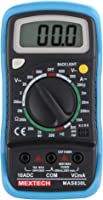 Mextech MAS830L 3 Digit, 1999 Counts, 600 AC/DC Voltage Digital Multimeter