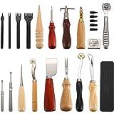 Outils de bricolage en cuir 18 pièces, Outil de bricolage en cuir pour coudre à la main, couture et ensemble de selles