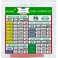 BOJACK 14 waarde 240 stuks Diode Assortimentset bevat gelijkrichter/snel herstel/Schottky/schakeldiode 1N4001 IN4004 IN4007 I