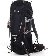 Syming Trekkingrucksack Wanderrucksack Reiserucksack Herren Fahrradrucksack Damen Wasserdicht Rucksack mit Regenschutz Nylon