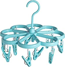 Offspring Flower Shape Baby Clothes Hanger 12 Clips - Blue