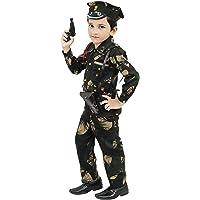 Chandrika Kid's Army Costume Dress (Green, 1-2 Years)