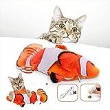 Pesce Giocattolo Elettrici Per Gatto, Catnip Giocattoli Per Gatti, Giochi Interattivi Per Gatti Indoor, 28cm Catnip Pesce Gio