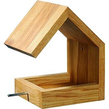 Luxus vogelhaus 46601e eiche vogelfutterhaus mit st nder - Modernes vogelhaus ...