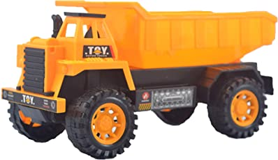 Lukas Dumper Truck Toys, Push and Go Toy for Kids, Dump Truck for Kids, Dumping Truck Toy, Orange Color