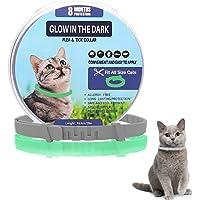 Collare Antiparassitario per Gatti, Collare Antipulci per Gatti Impermeabile Regolabile Naturale con Protezione di 8…