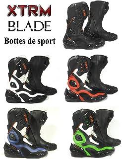 Bottes Moto Cross Quad Enduro Noir Blanc JLP RACING Normes CE 45 EU