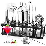RATEL Cocktail Shaker Set, 18 Pezzi Set Professionale per Cocktail Shakers Bar per Feste Accessori Essenziali per Barman Kit
