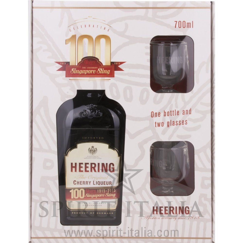 Heering Original Cherry Liqueur GB mit Gläsern 24,00 % 0.7 l.