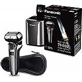 Panasonic ES-LV9Q-S803 Rasoir Premium avec ultraflexiblem 5D de tête de rasage, rasage de rasoir électrique pour homme, schonende sec ou humide, avec station de nettoyage, argent