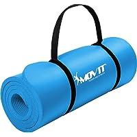 Movit® Tapis de Gymnastique Mat de Yoga sans phtalate Fitness Pilates/Sport/Gym, Taille 183cm x 60cm, très épais…