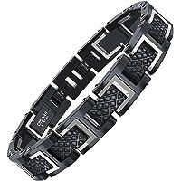 COOLMAN Bracelet en Acier Inoxydable pour Homme avec boîte-Cadeau Gratuite, Taille réglable 20-22 cm, Série RacingLegend