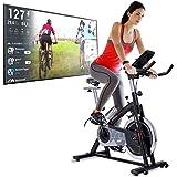 Sportstech Vélo d'appartement | Ergomètre avec Volant de 22 kg, Application multijoueur et événements vidéo avec ebook…