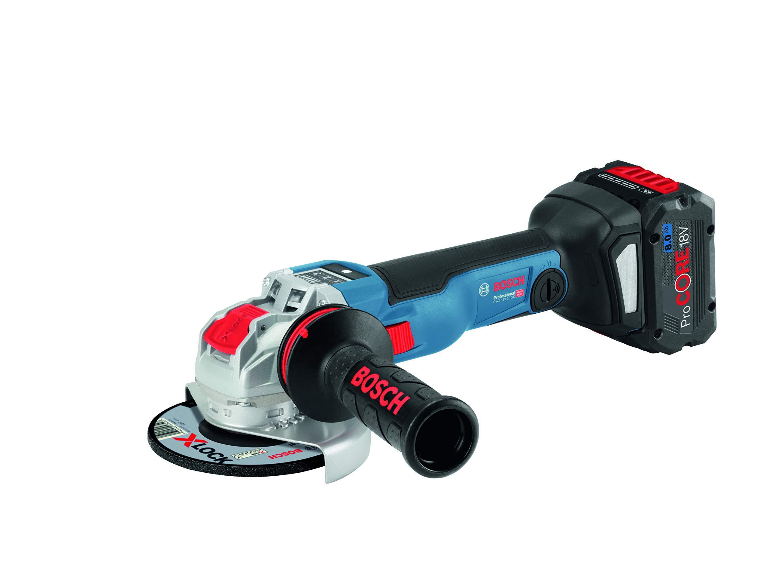 Bosch Professional GWX 18V-10 SC X-Lock Winkelschleifer 06017B0401, 18 V