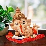 Karigaari India Handcrafted Polyresin Eco Friendly Lord Ganesha Ganpati Idol Figurine | Lord Ganesha Statue for Home Decorati
