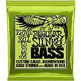Ernie Ball Slinky Jeu de cordes pour guitare basse Regular Slinky 050-105