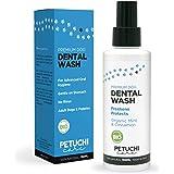 PETUCHI Dentifricio Spray per Cani BIO; Combatte l'Alitosi, Il Tartaro e la Placca; 100% Naturale; per Stomaco Sensibile; 150