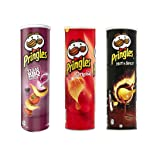 Pringles Combo Potato Chips (Original, Hot & Spicy and Barbeque), Pack Of 3 (165 grams Each)