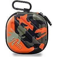 TIZUM Earphone Carrying Case - Multi Purpose Pocket Storage Travel Organizer for Earphone, Pen Drives, Memory Card, Cable (Camouflage Orange)