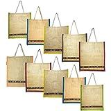 Prakriti Maitri Jute Bag for Return Gifts / Diwali Gift Bags /Tifin Bag Jute / Jute bag with zip combo / Wedding return gifts