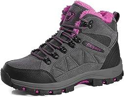 Herren Damen Wanderschuhe Wasserdicht Trekking Winterschuhe Warm Gefüttert Winter Boots Schneestiefel Plateau Sneakers Schuhe