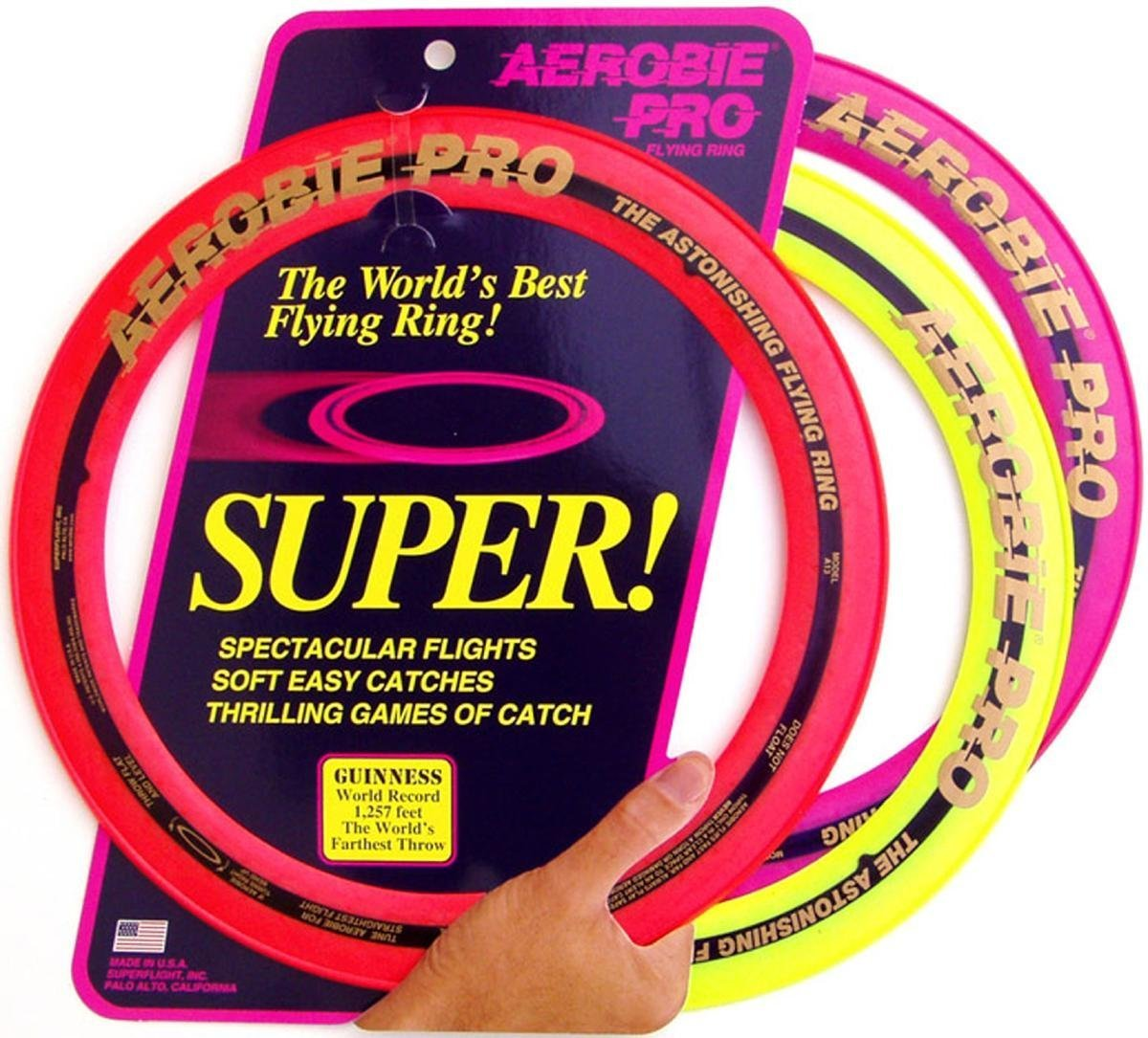 Aerobie Pro Flying Ring (33 cm Diameter) - Assorted Colours - pack of 12