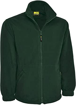 MIG - Mud Ice Gravel Mens Classic Fleece Jacket Coat Sizes XS To 4XL - Work Leisure Sports Casual