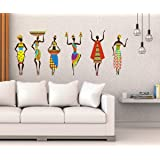 Studio Curate Large Size Wall Sticker for Living Room, Bedroom, Hall, Kitchen Decor | African Tribal Women| PVC Vinyl…