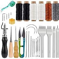 Kit D'artisanat En Cuir, 6 Outils Et Fournitures De Travail En Cuir À Fil De Cire Pcs Avec Poinçon À Broches, Cordes De…