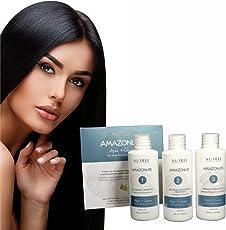 Brasilianisches Keratin Haar Glätten/glätten Behandlung Kit, Amazonliss Brazilian Keratin Treatment 1,7 oz, 3 Stück