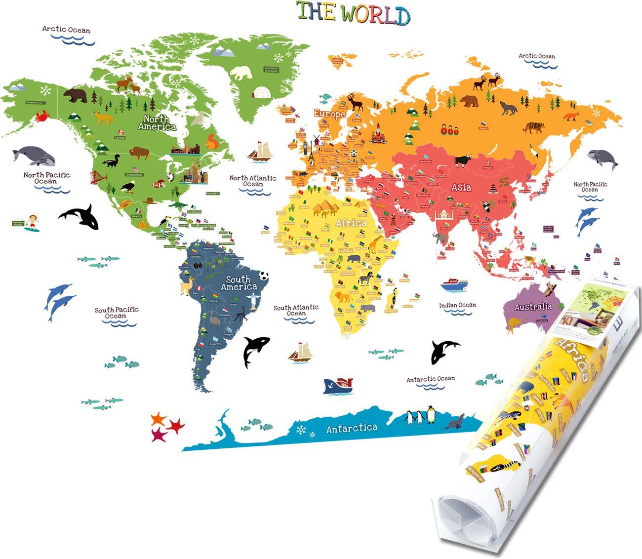 Homeevolution Mappa Del Mondo Educativa Grande E Rimovibile