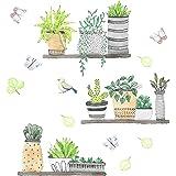 milaosk Pegatinas Decorativas Pegatinas de Pared de Planta Adhesivos Pared Para Dormitorio Sala de Estar Cuarto de los Niños,