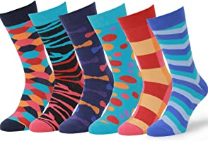 Easton Marlowe 6 PR Calcetines Estampados Hombre, Calidad Europea