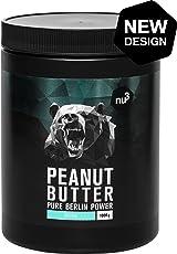 nu3 Erdnussbutter/Peanut Butter, 1kg - pure natürliche Erdnussbutter/Erdnussmus Vegan und ohne Zucker oder sonstige Zusätze von Salz, Öl oder Palmfett, mit 28g Protein pro 100g