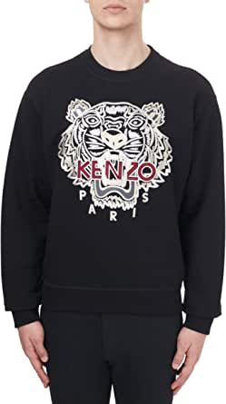 Kenzo Mens Tiger Sweatshirt Black Gold Tiger Shirt 100% Cotton (Adjusted Size) (S)