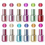 Volo Beauty Berry Metallic shine nail polish combo Pack of 12 pcs
